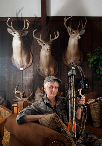 Robin Brownu0027s Living Room Walls Are Covered With Mounts Of Deer She Has  Killed.